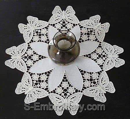 Butterfly Freestanding Lace Doily