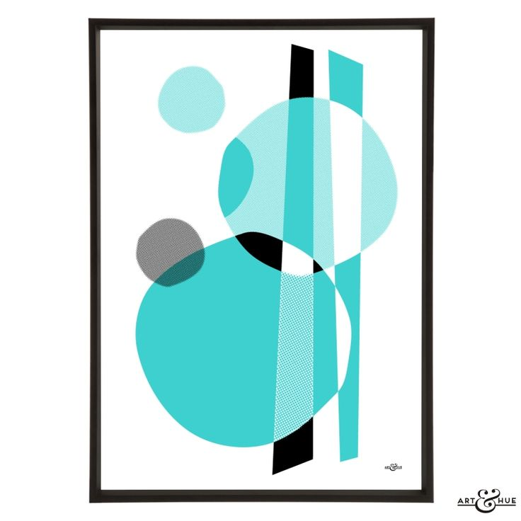 Unframed Midcentury Memphis bass abstract art print on 310gsm fine art archival matte paper, 100% cotton, using pigment inks which last a lifetime.