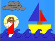 Jesus craft-  I used this for Paul's Shipwreck too.  there are separate Jesus an sail boat templates and both are very easy to make.  I also made the sail boats to decorate my classroom door at work.