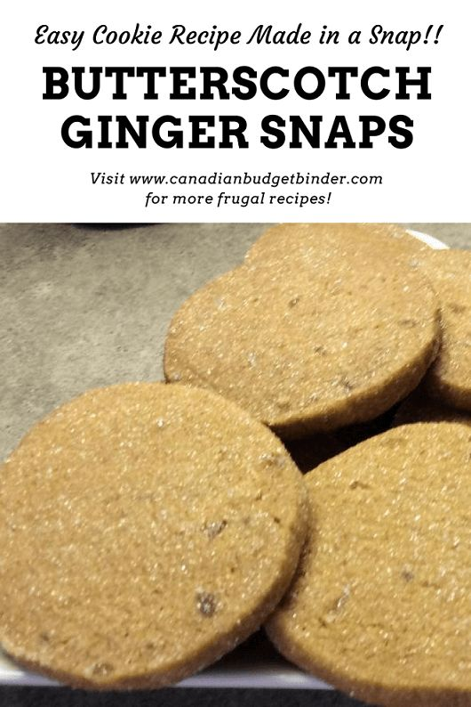 Sugared Butterscotch Ginger Snaps are DELICIOUS and wait until you see what the Secret Ingredient is!! Lots of Snap in these Ginger Snaps!