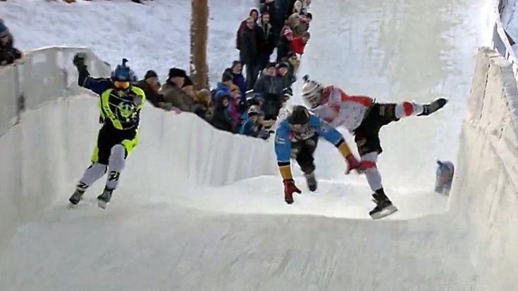 Adrenalin im Eiskanal: Saisonauftakt der Crashed Ice WM ist nichts für schwache Nerven