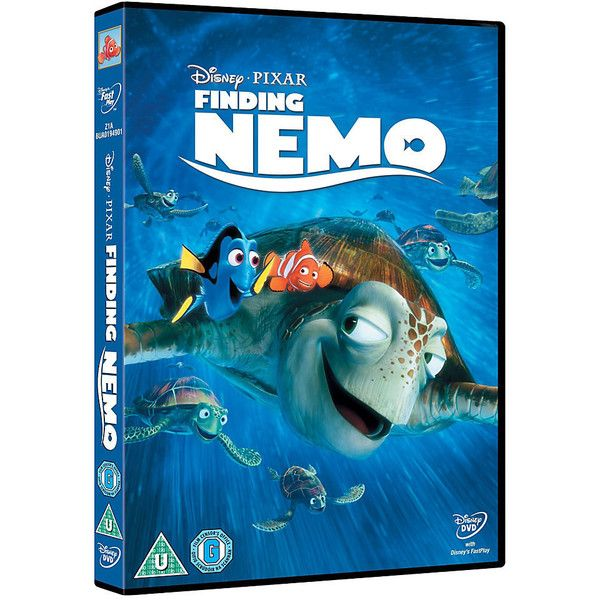 Finding Nemo DVD ($19) ❤ liked on Polyvore featuring movies, disney, dvd, electronics, extra and filler