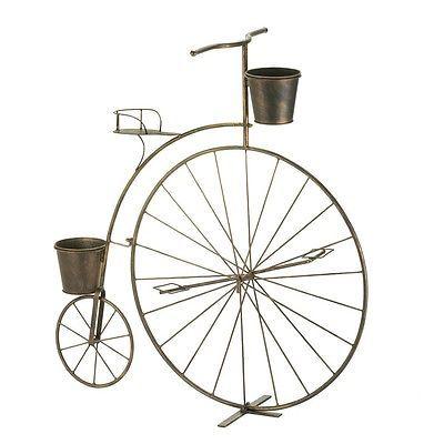 De Colección Rústico Antigua Bicicleta plantador de jardín Decoración de Jardín Jardinera