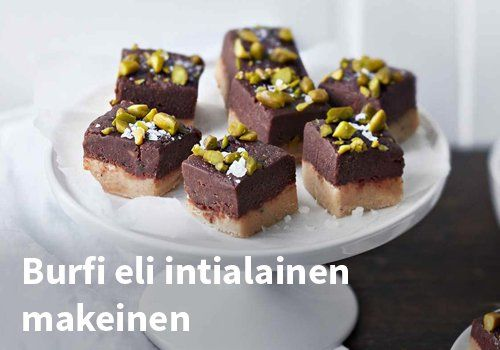 Burfi eli intialainen makeinen, Resepti: Valio #kauppahalli24 #helpompiarki #jälkiruoka #makeinen #resepti #ruokaanetistä #herkku #ohje