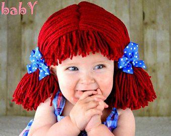 Peluca de Raggedy ann, sombrero del bebé, recién nacidos disfraces de Halloween, traje de bebé, Raggedy ann, traje de la muchacha, sombreros del bebé, apoyo de foto
