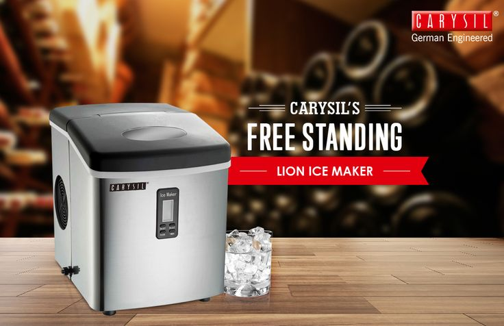 Compact, Convenient and Incredibly Fast, Carysil's ice maker makes ice cubes in a click!  #CarysilKitchen #IceMaker #Kitchen