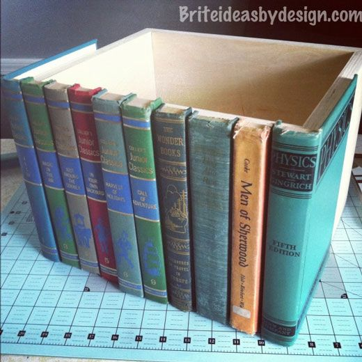 Clever DIY Storage Solutions For Your Home - Neatologie.com Many other ideas - I rather like this for books that I would otherwise ship off to a charity shop. (usually really trashed books)