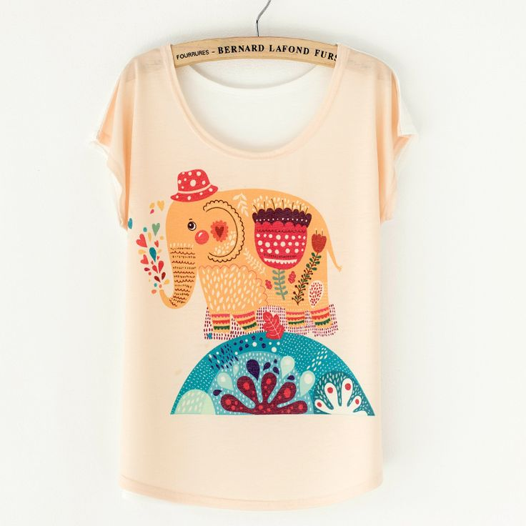 New 2016 Summer Women Style Plus Size Loose Ladies Batwing T shirt Short Sleeve Cotton Women's T-shirt Animal Print Top Tees