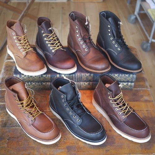 Red Wing boots...the best for my guy, just have to save up!