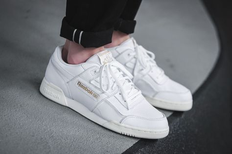 brand new f2f18 e21ef Chaussure Reebok Workout Plus ALR White Gold (homme femme) (2)