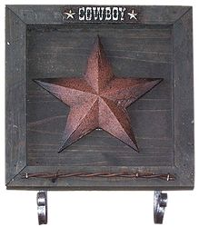 Double Hook Star Plaque - $14.99