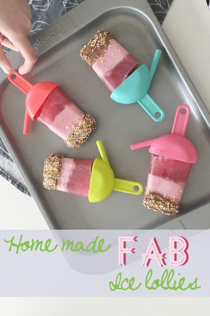 Homemade FAB ice lollies