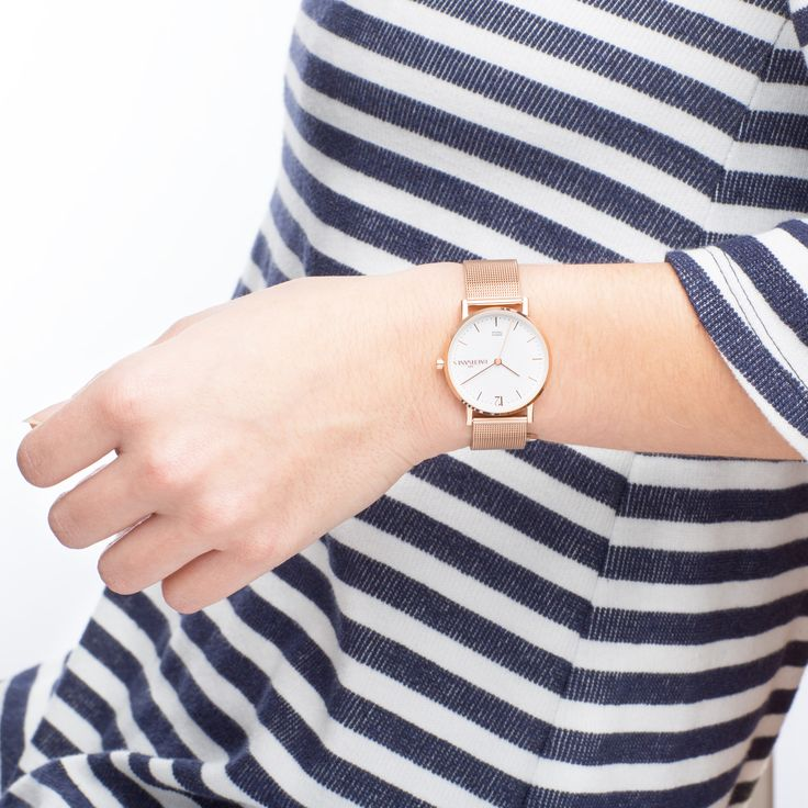 L'Audacieuse Or Rose à Maille Milanaise  #lespartisanes #womens # watches #madeinfrance #watchaddict #jewellery #love #summer #paris #spring #toutespartisanes
