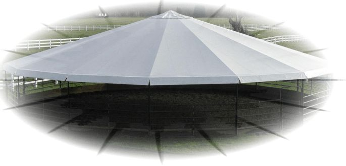 Equi-Cover Horse Round Pen Cover Affordable Alternative to Indoor Arenas
