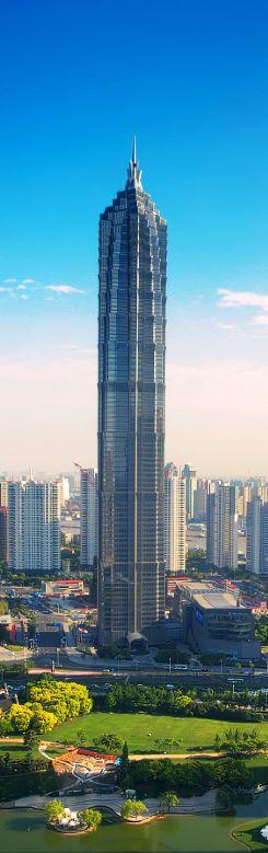 Jin Mao Tower, 420m, 1999, Sanghai, China