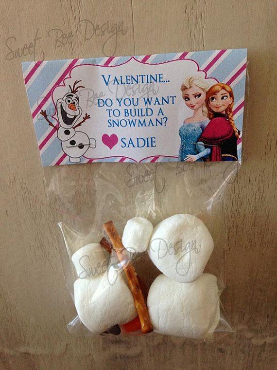 Frozen Valentine's Printable  Frozen by SweetBeeDesignShoppe