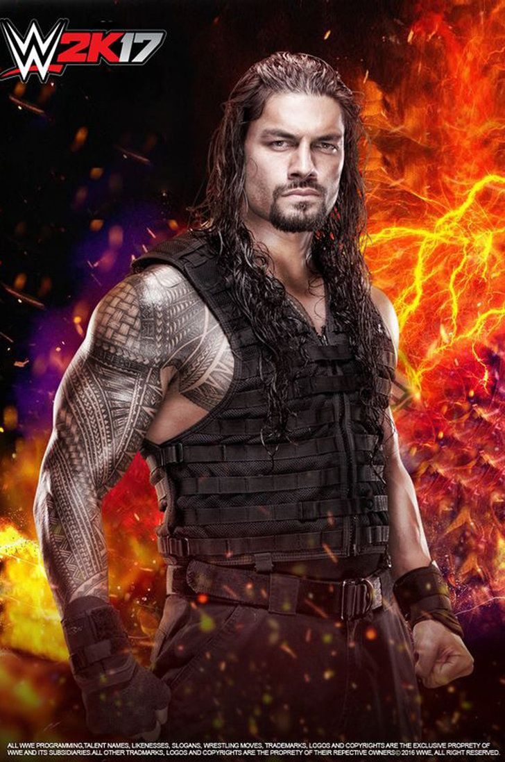 WWE Roman Reigns W2K17 Poster by edaba7.deviantart.com on @DeviantArt