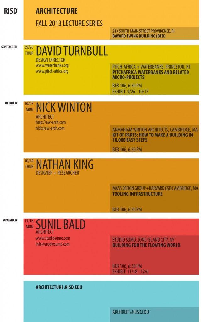 25 best Speaker Series images on Pinterest   Design ...