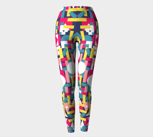 colorful leggings with geometric print