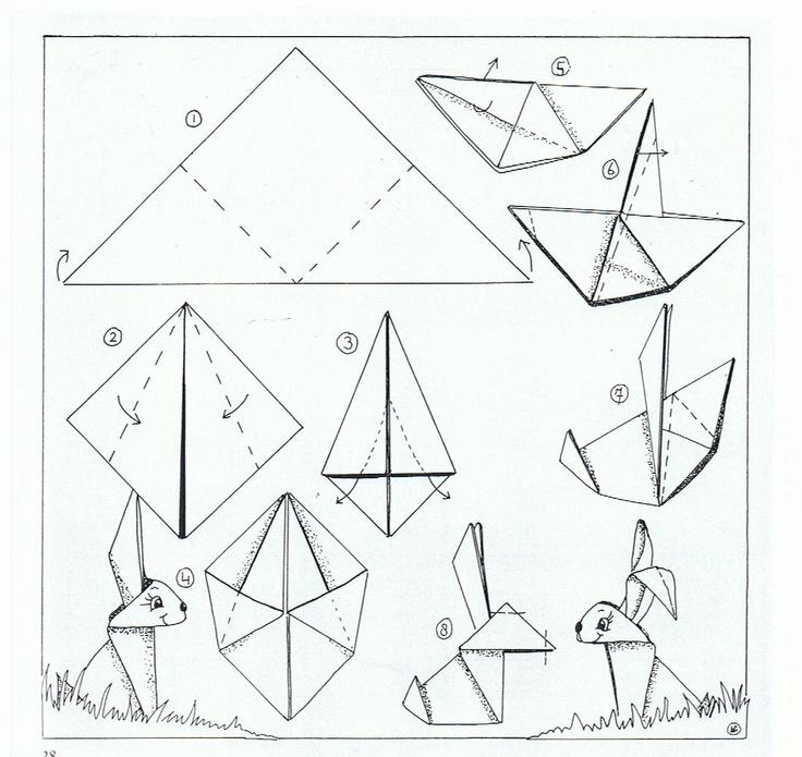 Origami paashaas - Liselotje
