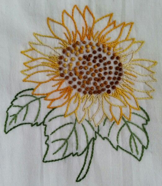 Monogram Kitchen Towels 17 best images about Sunflower embroidery patterns on ...