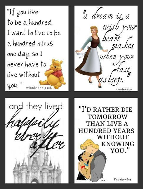 Disney Printables - Pooh, Cinderella, Happily, and Pocahontas