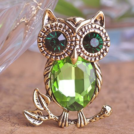 Retro Rhinestone AntiGold Owl Brooch Only $9.65  => Save up to 60% and Free Shipping => Order Now! #Ring #Jewelry #woman #fashion
