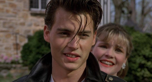 Johnny Depp and Amy Locane in Cry-Baby (1990)