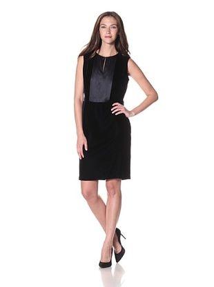 Armani Collezioni Women's Belted Velvet Dress