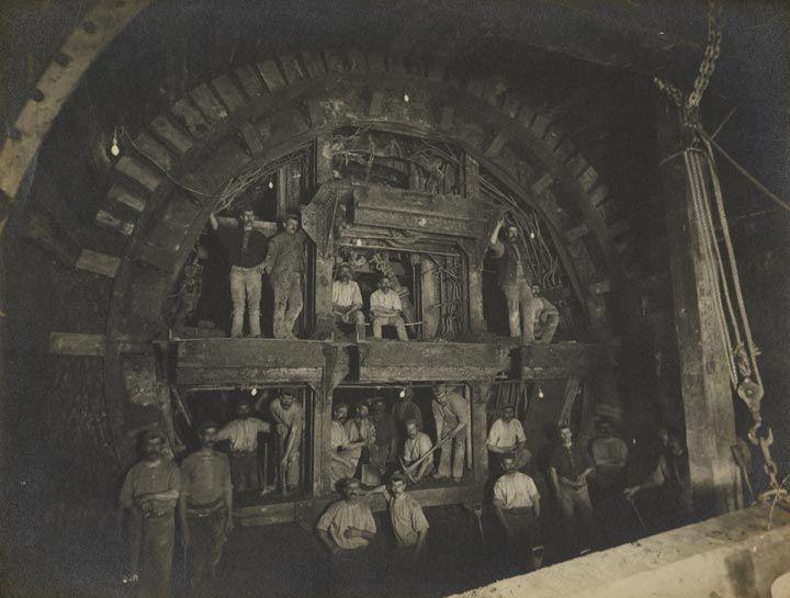 'Construction of the London Underground', 1898
