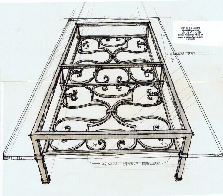 hand forged wrought iron coffee table with 19th century