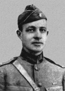 Captain Alexander Skinker - Unwilling to sacrifice his men when his company was held up by terrific machinegun fire from iron pill boxes in the Hindenburg Line, Capt. Skinker personally led an automatic rifleman and a carrier in an attack on the machine-guns. The carrier was killed instantly, but Capt. Skinker seized the ammunition and continued through an opening in the barbed wire, feeding the automatic rifle until he, too, was killed. September 26, 1918