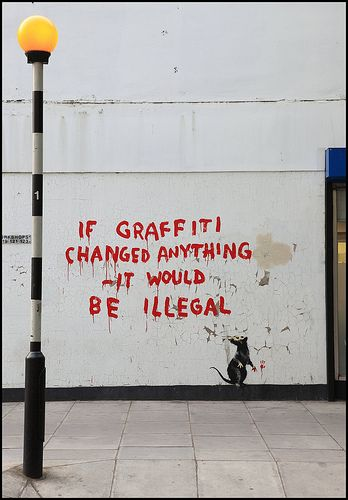 Banksy in Fitzrovia, London W1.