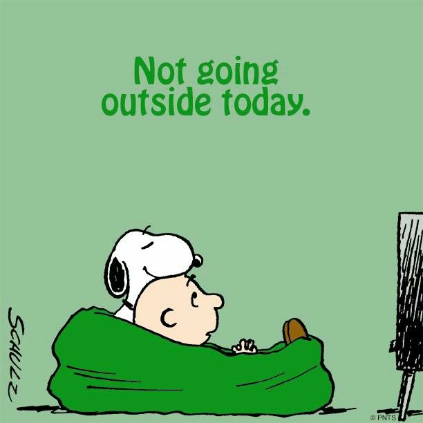 Snoopy and Charlie Brown are binge watching....