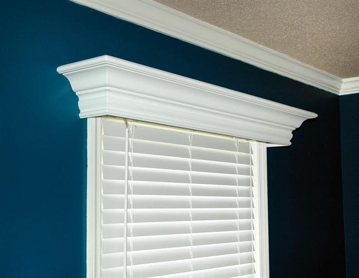 Ashton Custom Wood Cornice Close Up Window And To The Wall