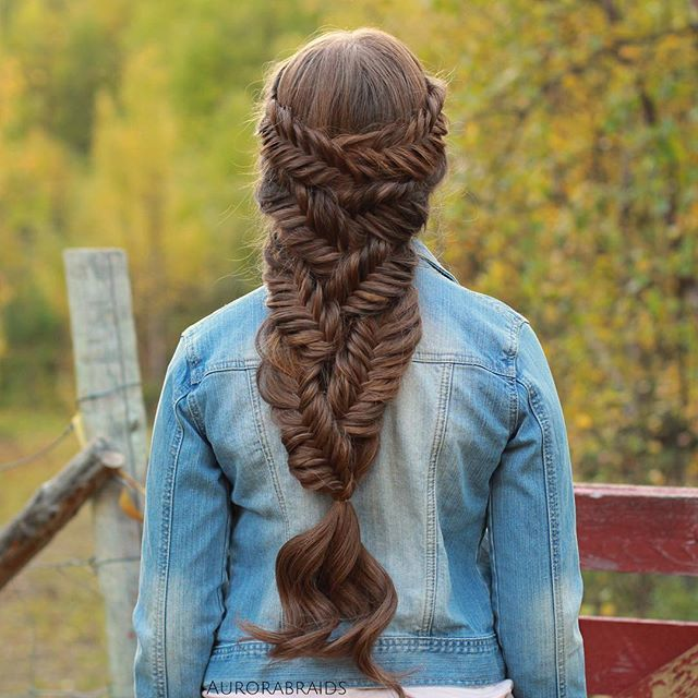 1325 best images about hairstyles i love complex braiding for Fish tail hair