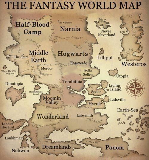 Fantasy World Map*—-* bei @We Heart It.com –...
