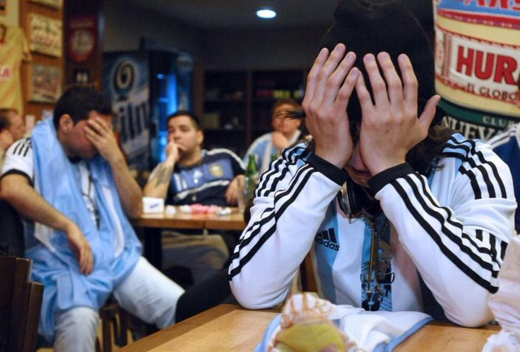 Dejected Argentina supporters in Buenos Aires following Copa America defeat to Chile. Photo: Maxi Failla
