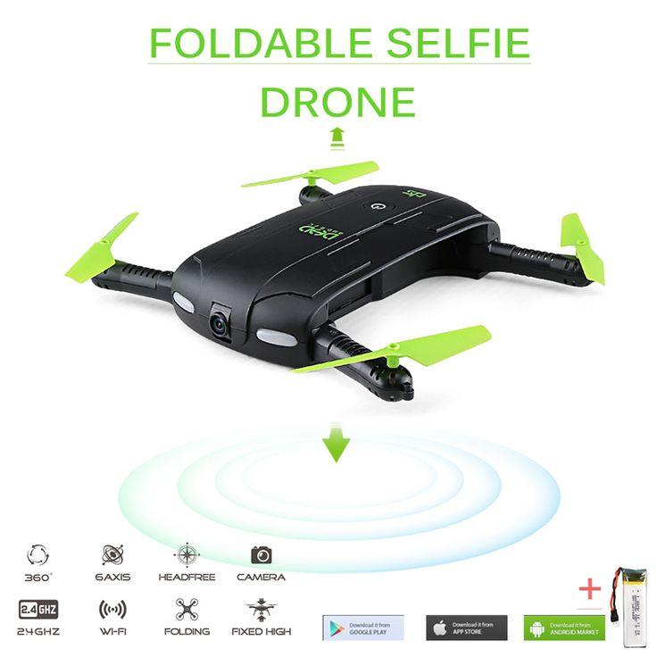 DHD D5 Selfie FPV Drone Avec Caméra HD Pliable RC Poche Drones Téléphone Mini Hélicoptère De Contrôle Dron VS JJRC H37 523 Quadcopter