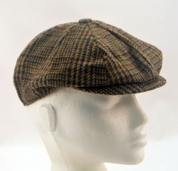 Mens Boys Ladies Failsworth Country Eight Panel Tweed Flat Cap UK Clearance 55cm