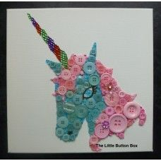 Button Art Unicorn