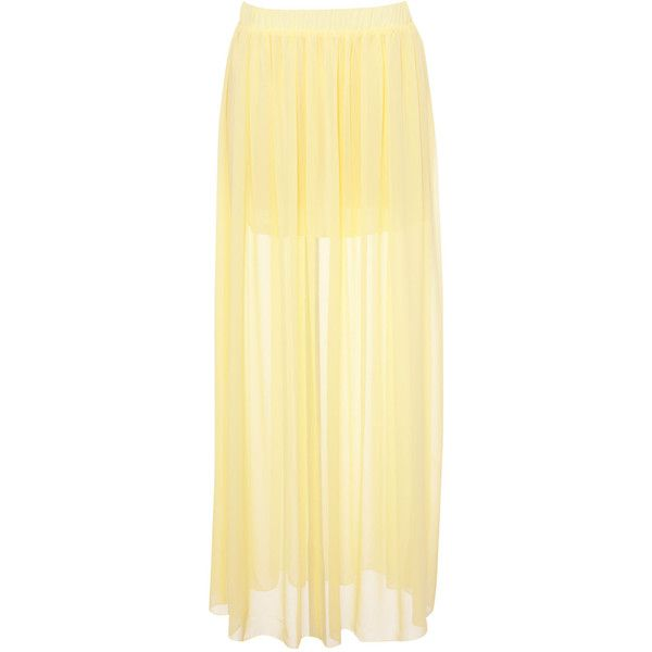 Pull & Bear Long Skirt ($16) ❤ liked on Polyvore featuring skirts, bottoms, faldas, saias, yellow, beige maxi skirt, yellow maxi skirt, long beige skirt, yellow skirts and floor length skirts