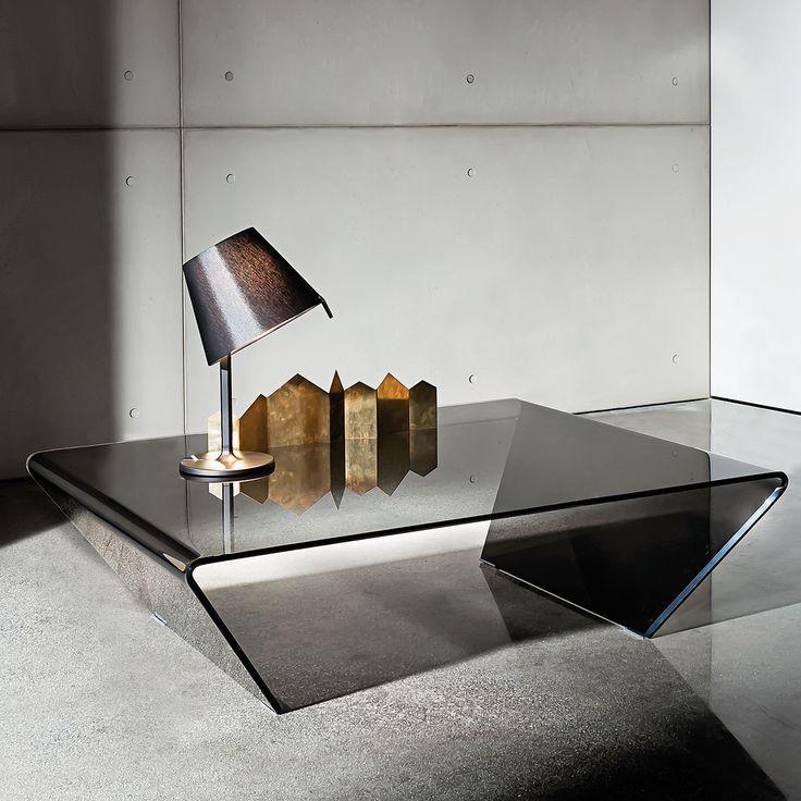 Rubino Curved Glass Coffee Table   Klarity