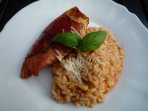 Risotto with tomato and basil * Risotto tomaat-basilicum