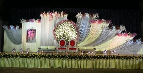 Outdoor Indian Wedding Stage Decorations