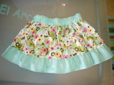 El Arca de Glops: Tutorial Falda (The Market Skirt) con hilo elástico.