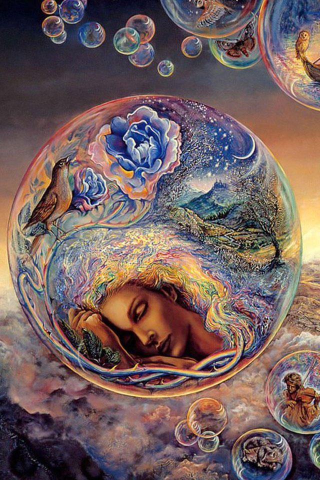 """""""One's own self is well hidden from one's own self; of all mines of treasure, one's own is the last to be dug up."""" ~ Friedrich Nietzsche :::: Art - Josephine Wall"""