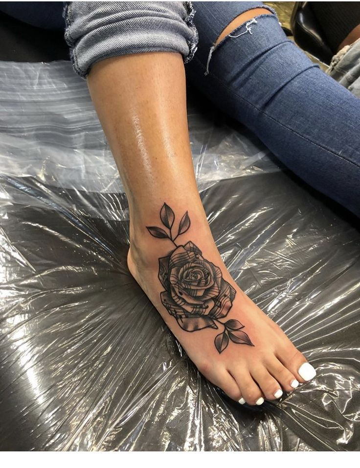 Another Rose Tattoo Inspiring Ladies Cute Foot Tattoos Foot Tattoos Tattoos