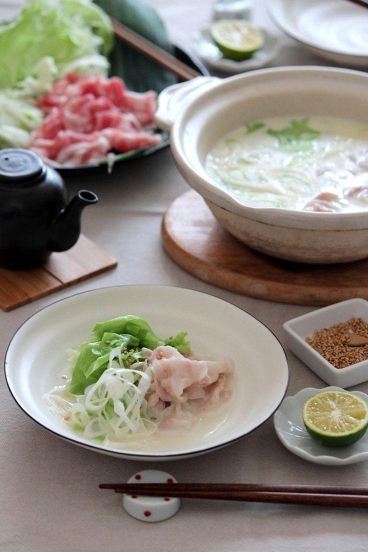 ネギ豚レタスの豆乳しゃぶしゃぶ鍋。 by 栁川かおり | レシピサイト「Nadia | ナディア」プロの料理を無料で検索