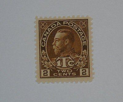 Stamp Pickers Canada 1915 KGV Admiral War Tax 2c Scott #MR4 MNH $80+